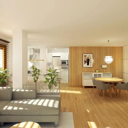 Reforma integral y amueblamiento de vivienda antigua
