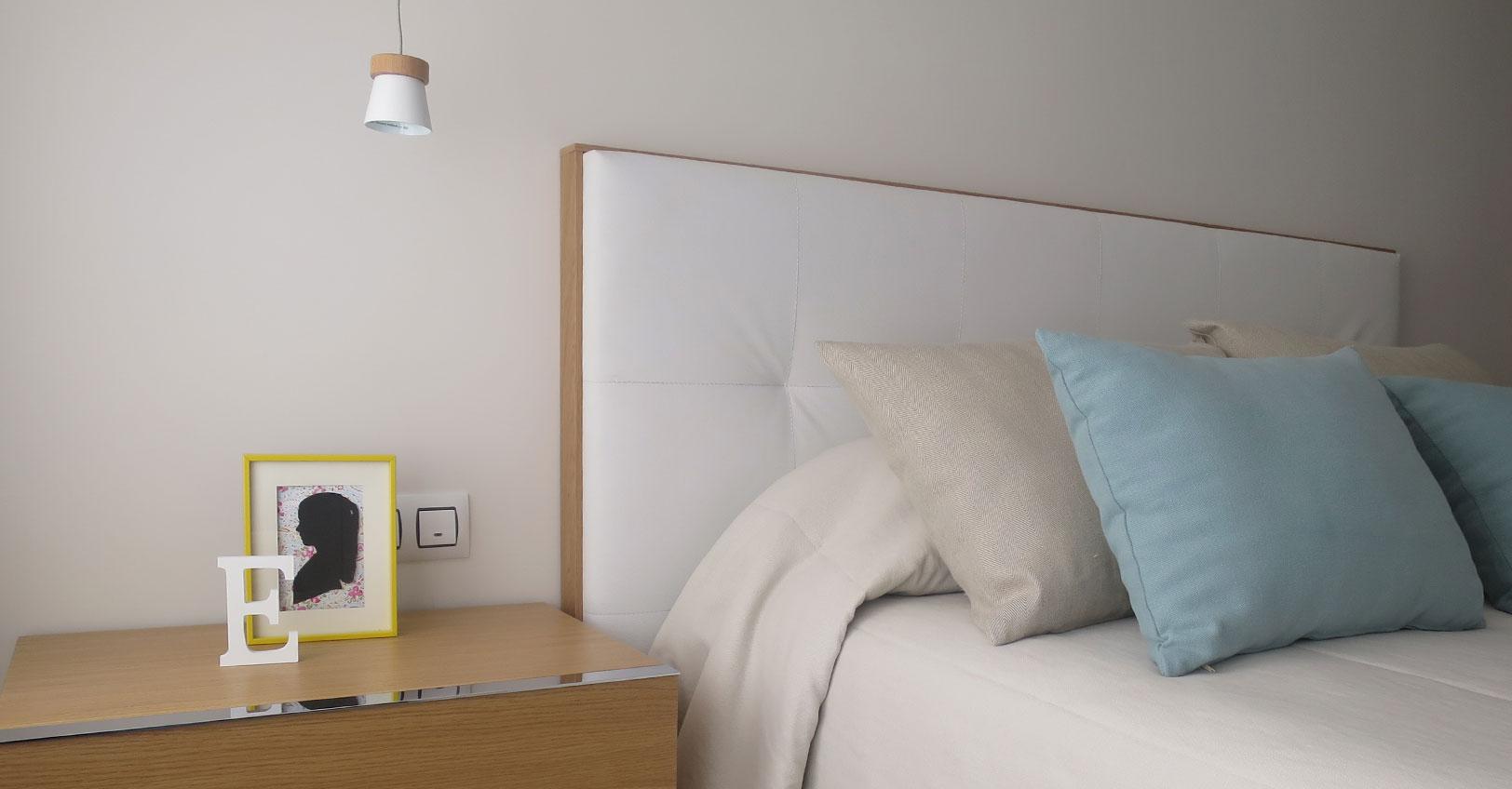 Amueblamientor salón y dormitorio estilo nórdico